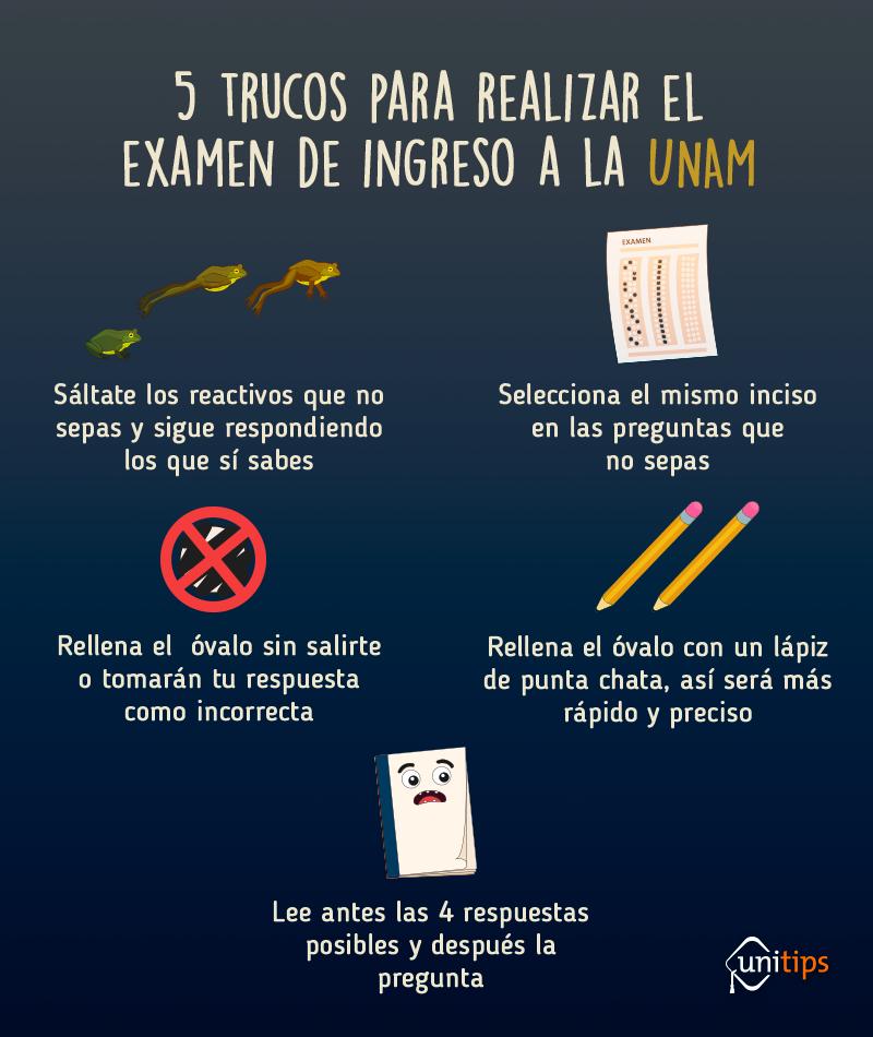 Trucos para contestar el examen de admisión a la UNAM