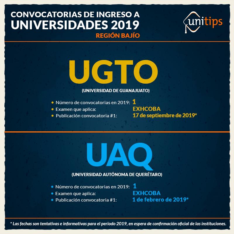 Convocatorias-de-ingreso-a-Universidades-2019-Región-Bajío