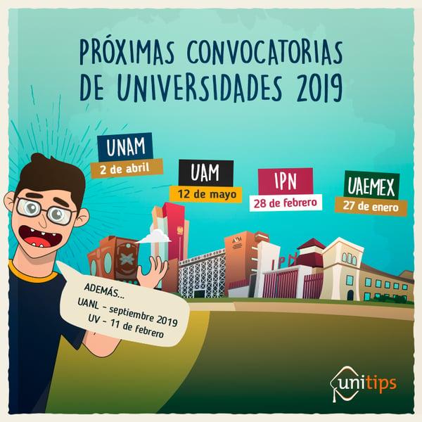 PROXIMAS-CONVOCATORIAS-DE-UNIVERSIDADES-2019