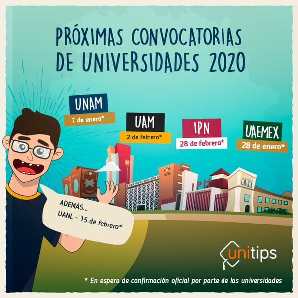 proximas-convocatorias-de-universidades-2020