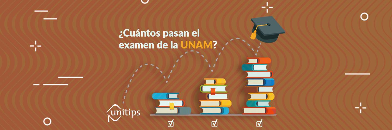 ¿Cuántos pasan el examen de la UNAM?
