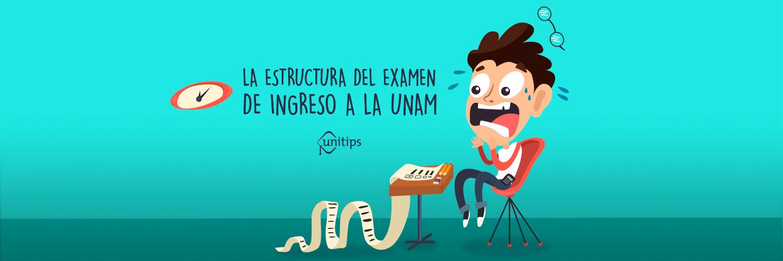 La estructura del examen de ingreso a la UNAM