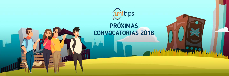 Próximas convocatorias de universidades 2018