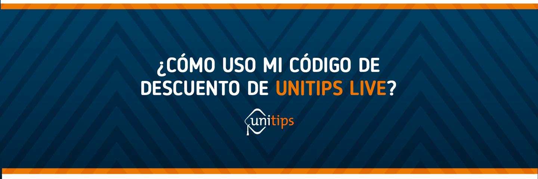 ¿Cómo puedo utilizar un código de UnitipsLive?