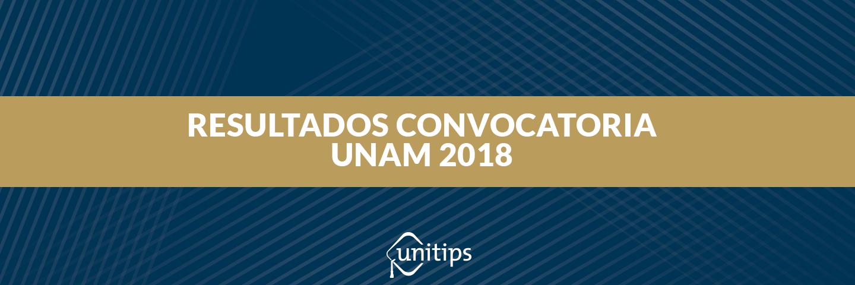 Resultados del examen UNAM 2018